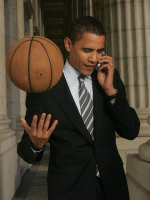 Basketball is linked to Barack Obama more closely than any sport to any other president.