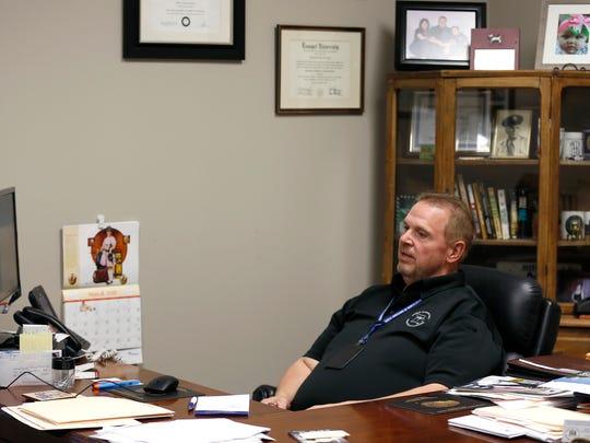 Tom Van De Berg, chief forensics investigator with