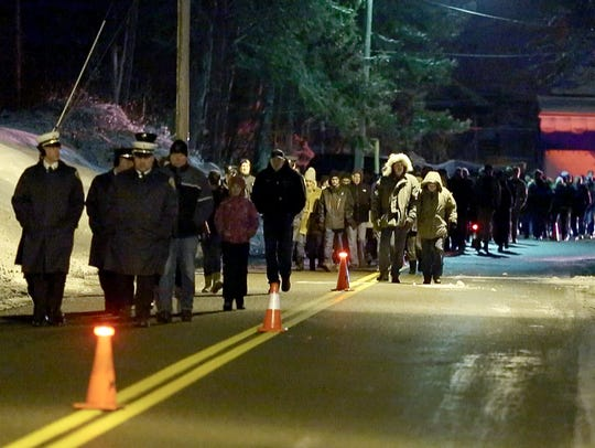 West Webster memorial service on Lake Road early Sunday,