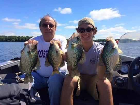 Dick and Payton Klaslo with some nice crappies