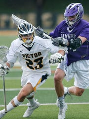 Jamie Trimboli during his Victor High days. He had 169 career goals and  helped Victor to state titles in 2015 and 2016.