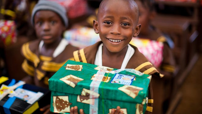 Chick-fil-A Cumberland will distribute empty shoe boxes to be filled for Operation Christmas Child.