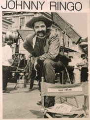 "Fryar, as ""Johnny Ringo,"" on the set of the Three Stooges"