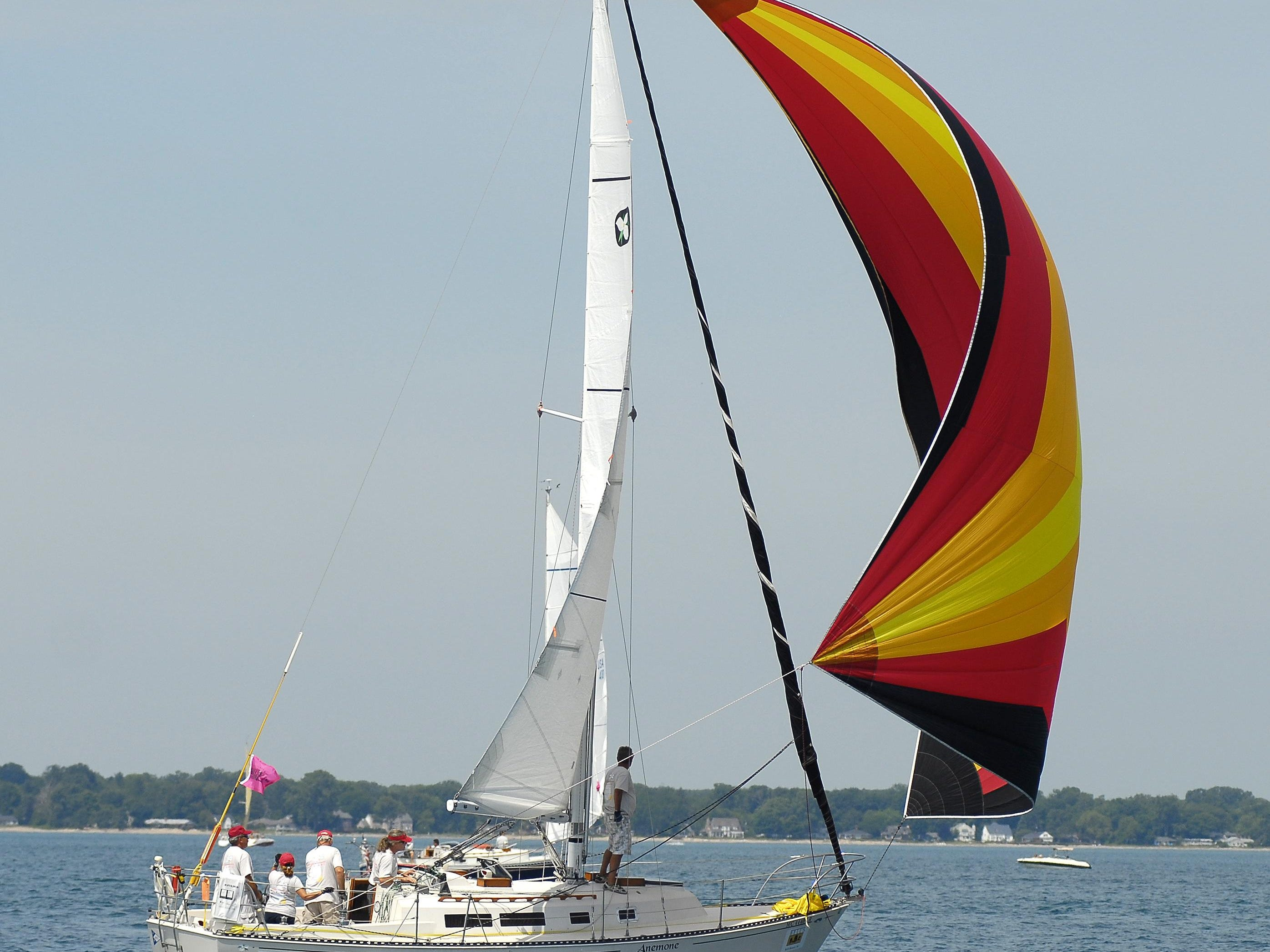 Anemone, of the Port Huron Yacht Club, Sat, July 12, 2014, during the start of the Mackinac Race.