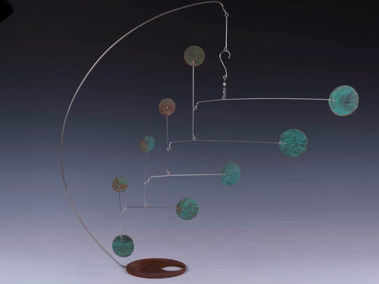 Metal mobile by Ursula Perry, part of the Outdoor Art