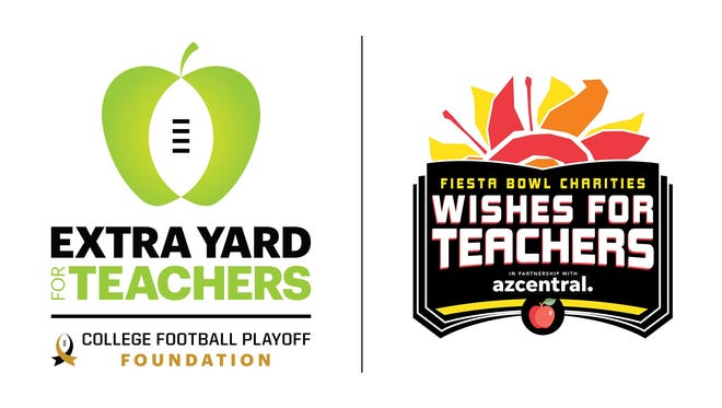 College Football Playoff Foundation joins Fiesta Bowl Charities through $100,000 donation to Fiesta Bowl Wishes for Teachers program.