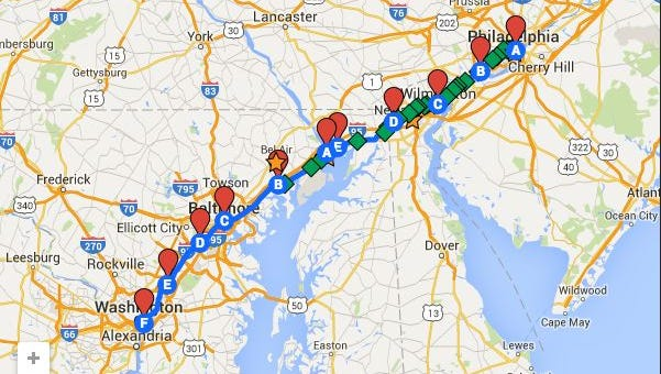 Marchers will travel from Philadelphia to Washington, stopping in Wilmington along the way.