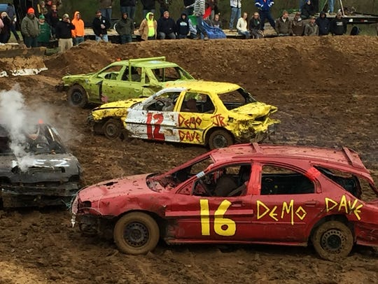 The sport-compact class of demolition derby cars was