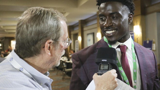 Alabama linebacker Dylan Moses, pictured here at SEC Media Days in 2019, will once again be the center of attention in 2020.