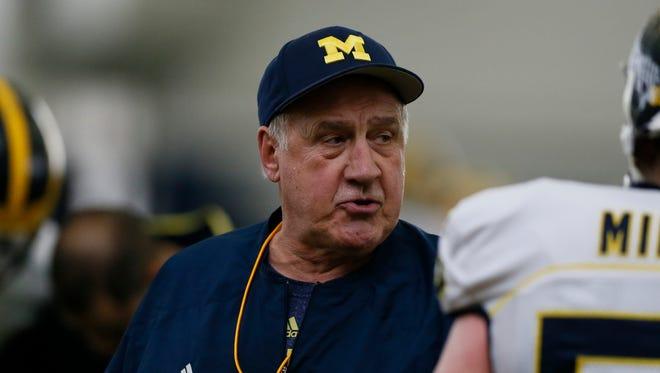 Michigan defensive line coach Greg Mattison