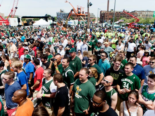 This crowd at the groundbreaking for the new Milwaukee