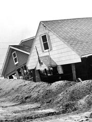 Beach Haven homes damaged in the 1962 nor'easter.