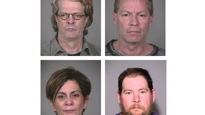 Richmond Hills explosion accused L to R: Robert Leonard, Mark Leonard, Monserrate Shirley, Gary Thompson