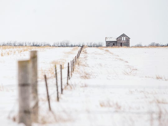 """Abandoned near Chamberlain"" by Abby Bischoff. Bischoff talks about her photos on display Thursday, Dec. 7, at Coffea in Sioux Falls. The photos are part of Bischoff's Abandoned South Dakota project."