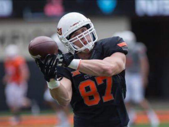 Oklahoma State redshirt freshman Logan Carter is excited