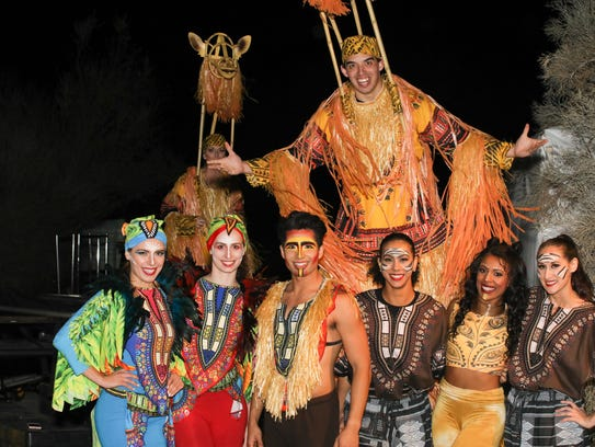 Lion King performers