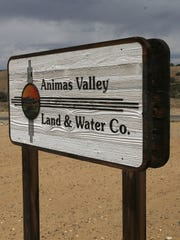 San Juan County  issued a declaration of emergency on behalf of the Morningstar and Harvest Gold water systems, which are owned by the Animas Valley Water company. A sign for the Animas Valley Land and Water Co. building is seen in Crouch Mesa.