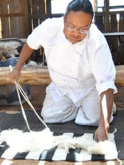 Award-winning Navajo weaver Zefren Anderson will be