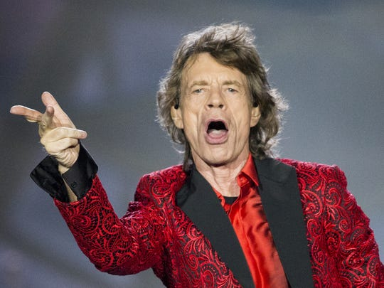 Mick Jagger, performs with The Rolling Stones at the