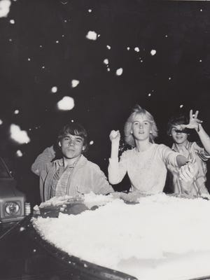 People through snowballs at eachother in Sunnyslope on March 4, 1966.