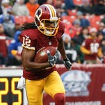 Washington Redskins wide receiver Andre Roberts carries the ball against the New York Giants in Landover, Md., on Nov. 29, 2015.