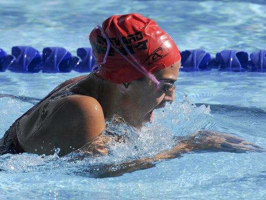 High School Swimming: Melbourne, Viera and Brevard Heat at Fee Av.