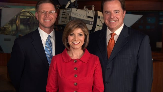 A trio of WBIR journalists were recognized in the 2009 East Tennessee's Best readers' poll. From left, Todd Howell, best local meteorologist, Robin Wilhoit, best local TV anchor and Steve Phillips, best local sportscaster.