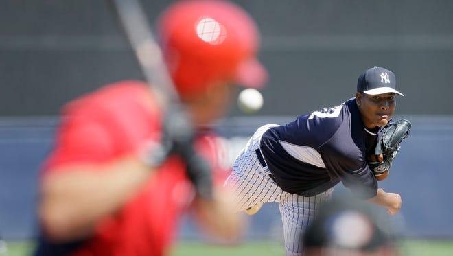 "Yankees starting pitcher Ivan Nova was ""beyond impressive"" against the Washington Nationals on Monday, catcher Brian McCann said."