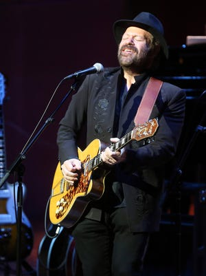 Colin Linden performs at the Country Music Hall of Fame's CMA Theater during a tribute concert celebrating the legacy of Sam Phillips Saturday, August 29, 2015.