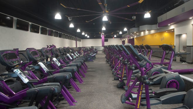 The trademark purple and black tread mills inside a Planet Fitness. These are in one of the newer locations in the former Westmont theater in Camden County, NJ. A new Planet Fitness is coming to Burlington Township at I-295 and Route 541.