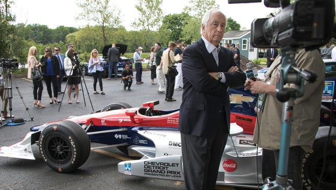Roger Penske at the Detroit Yacht Club on Belle Isle on Thursday.