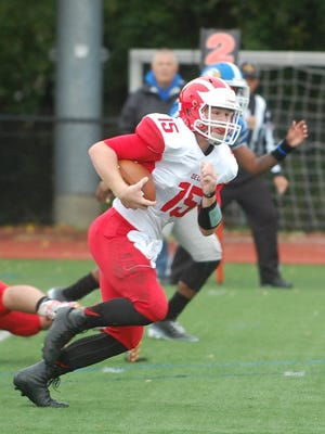 Delsea senior quarterback Quinn Collins was more than just a little disappointed in his team's lone loss.