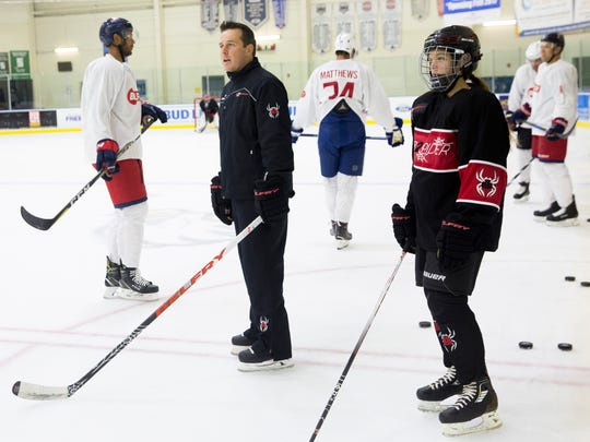 Renowned ice hockey trainer Darryl Belfry, who lives part-time in Naples, brings in NHL stars such as Patrick Kane, Austin Matthews, and Claude Giroux to train with him at Germain Arena Thursday, August 31, 2017 in Estero.