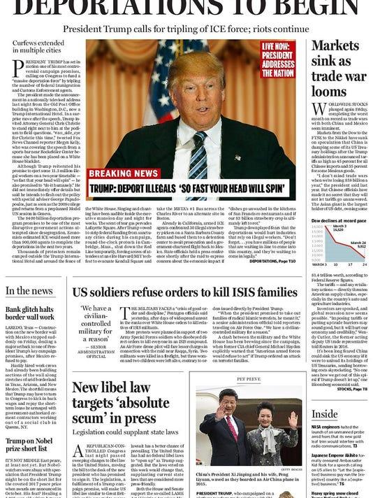 Boston Globe Editorial Cover
