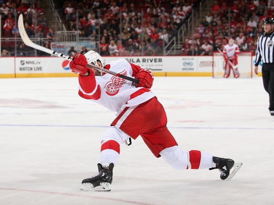 If Martin Frk can improve the accuracy of his incredibly hard shot, he'd increase his value with the Red Wings
