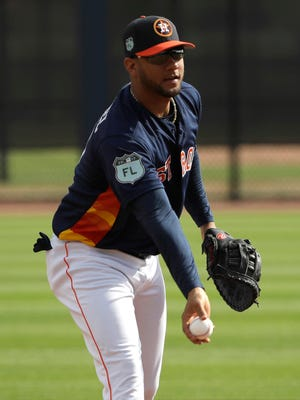 Yulieski Gurriel is switching to first base this spring for the Astros after batting .262 in 36 games last season.