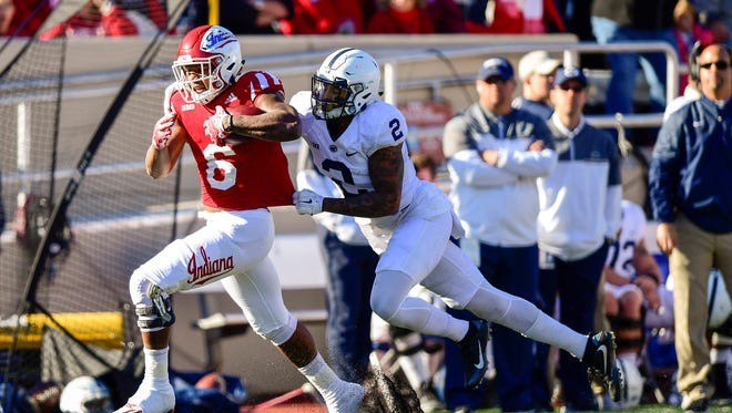 Camion Patrick (6) is the most intriguing prospect in a wide-open running back spot for IU.