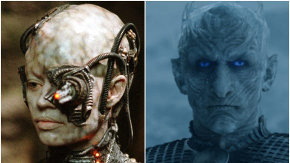 Bald and bad: The White Walkers remind us of the Borg from 'Star Trek' in more ways than one.