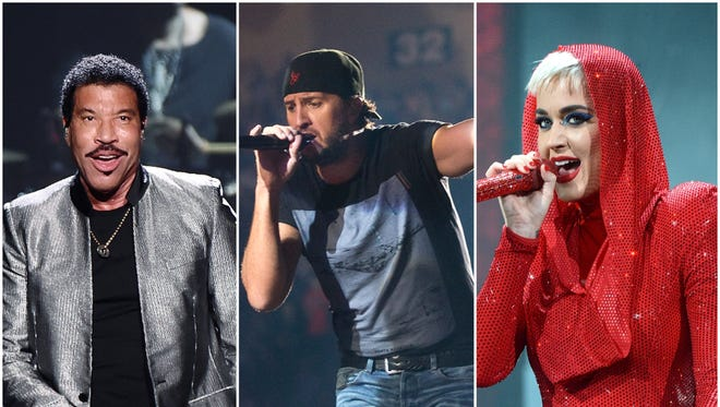 Lionel Richie, left, and Luke Bryan will join Katy Perry at the judges' table on 'American Idol' next year.