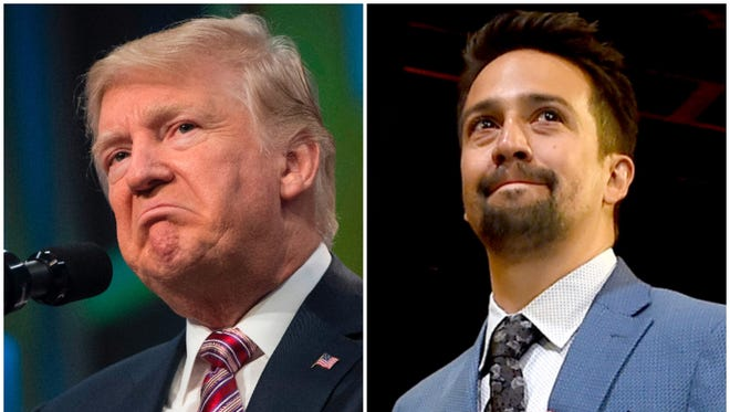 'Hamilton' creator Lin-Manuel Miranda was one of several celebrities who excoriated Donald Trump after his tweets about the mayor of San Juan, Puerto Rico.