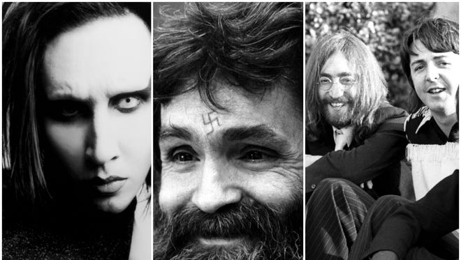 Charles Manson inspired singer Marilyn Manson's stage name and co-opted one of the Beatles' songs.