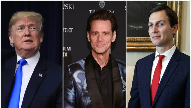 Jim Carrey strikes again: This time, the comedian has painted a second portrait of President Trump and one of his son-in-law, Jared Kushner.