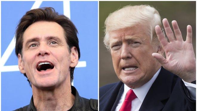 Jim Carrey is at it again, tweeting his latest portrait of President Trump.