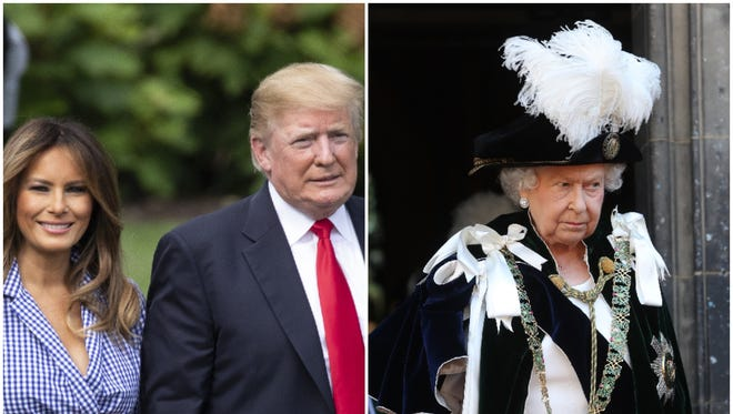 President Trump and first lady Melania Trump will meet with the queen at Windsor Castle during their upcoming visit to the U.K.