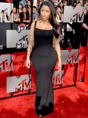Singer Nicki Minaj attends the 2014 MTV Movie Awards at Nokia Theatre L.A. Live on April 13, 2014 in Los Angeles.