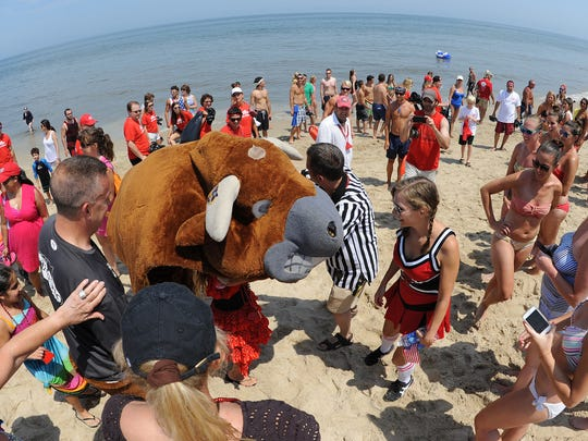 The 18th Annual Running of the Bull was held Saturday July 12th in Dewey Beach at the Starboard with a record crowd on hand.