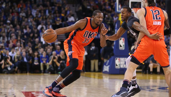 Kevin Durant said he can't help but think about free agency.