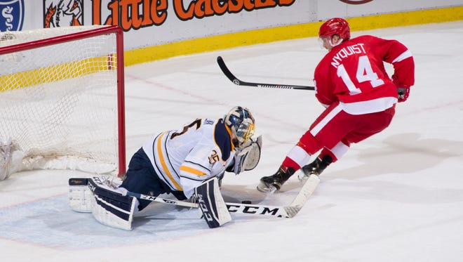 Red Wings forward Gustav Nyquist has 14 goals this season but hasn't scored in the past 10 games.