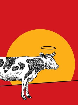 """""""Holy Cow!"""" by Boze Hadleigh, c. 2015, Skyhorse Publishing, $14.99 US / $19.99 Canada, 303 pages."""