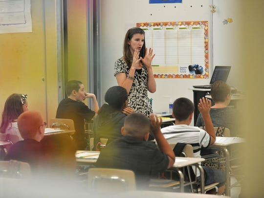 Lakeside Middle School science teacher Teale Millard